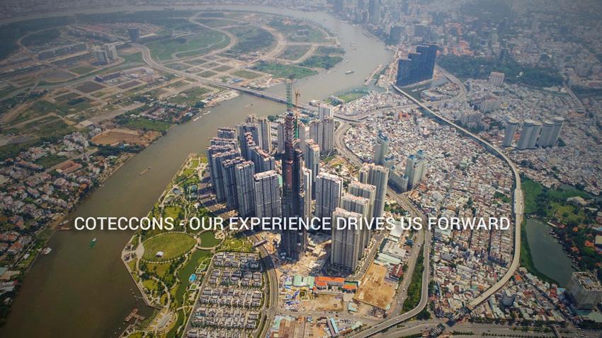 Tổng thể dự án Vinhomes Central Park nhìn từ trên cao.
