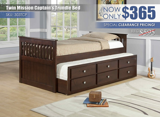 Mission Captains Twin Trundle Bed 303TCP_SpecialClearance2