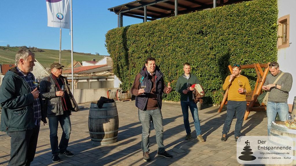 Stefan vom Weingut Braunewell zum Vinocamp Rheinhessen 2018 im Weingut Eppelmann, Stadecken
