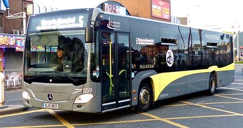 BJ15 BEO 'Blackpool Transport' No. 559, 'PALLADIUM'. Mercedes-Benz Citaro on 'Dennis Basford's railsroadsrunways.blogspot.co.uk'