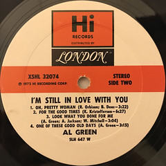 AL GREEN:I'M STILL IN LOVE WITH YOU(LABEL SIDE-B)