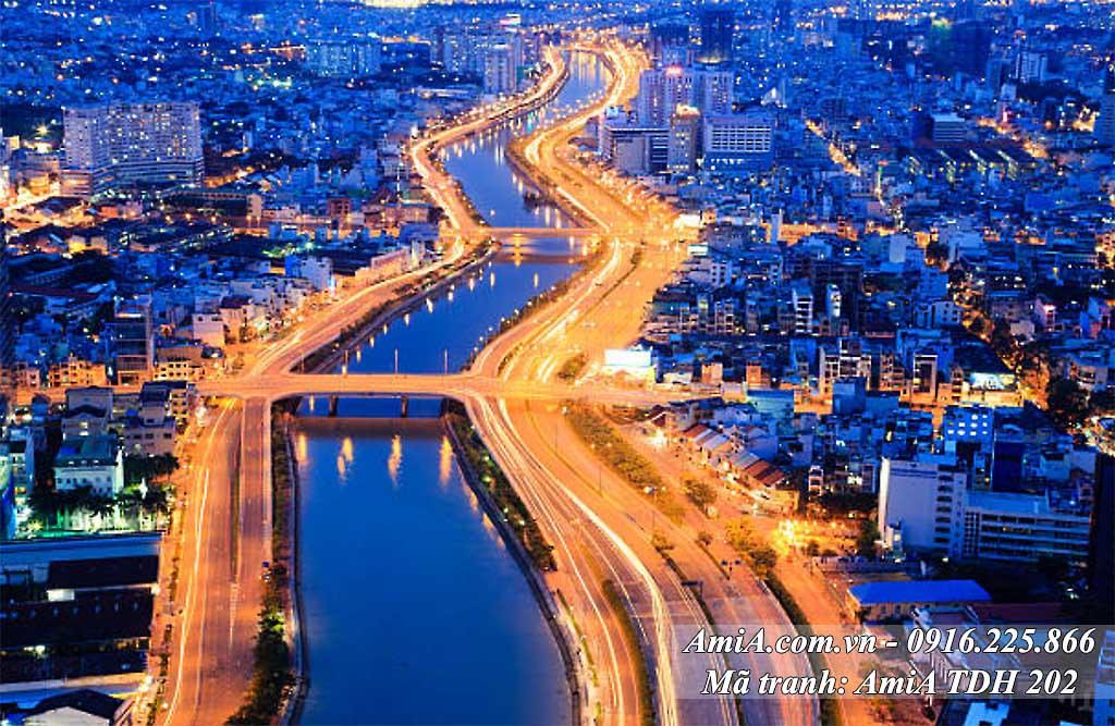 AmiA 202 - Tranh phong cảnh quê hương đẹp về Sài Gòn