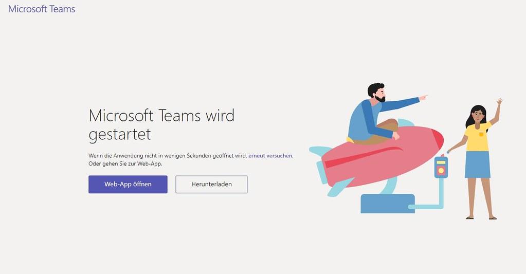 Microsoft Teams Gastzugang (10): Teams wird gestartet