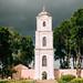 Nesvizh, Belarus. View Of Nyasvizh Brama-bell Tower Located On Territory Of Former Benedictine Monastery. Summer Day