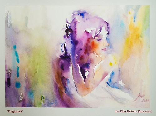 Fragàncies. Aquarel·la de l'artista Eva Elias.