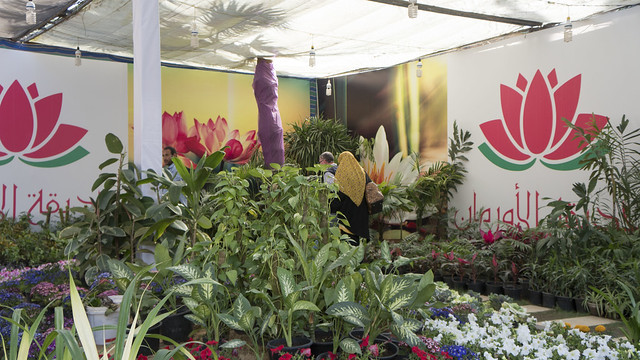 The Orman botanical garden partition at Egypt's Spring Fair 2018