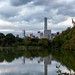 Skyline Reflection in Lake of Central Park, New York City