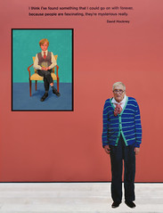 At The Exhibit - Hockney Image & Portrait Pasted In