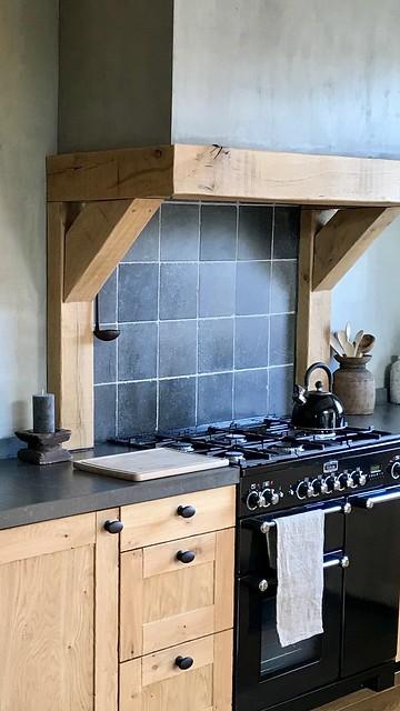 Keuken met schouw landelijke stijl