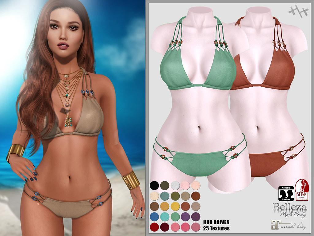Hilly Haalan – Escada Suede Bikini