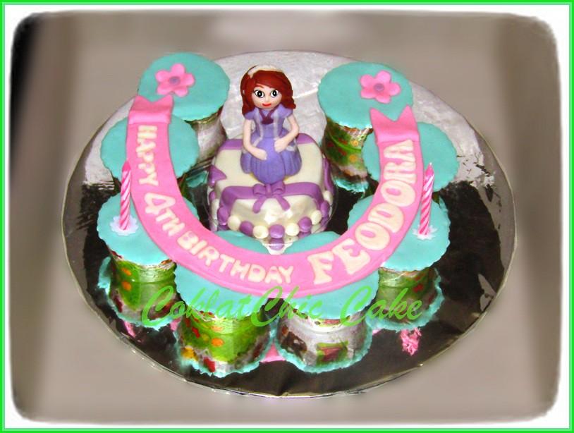 Cupcake set dan minicake Princes Sofia FEODORA