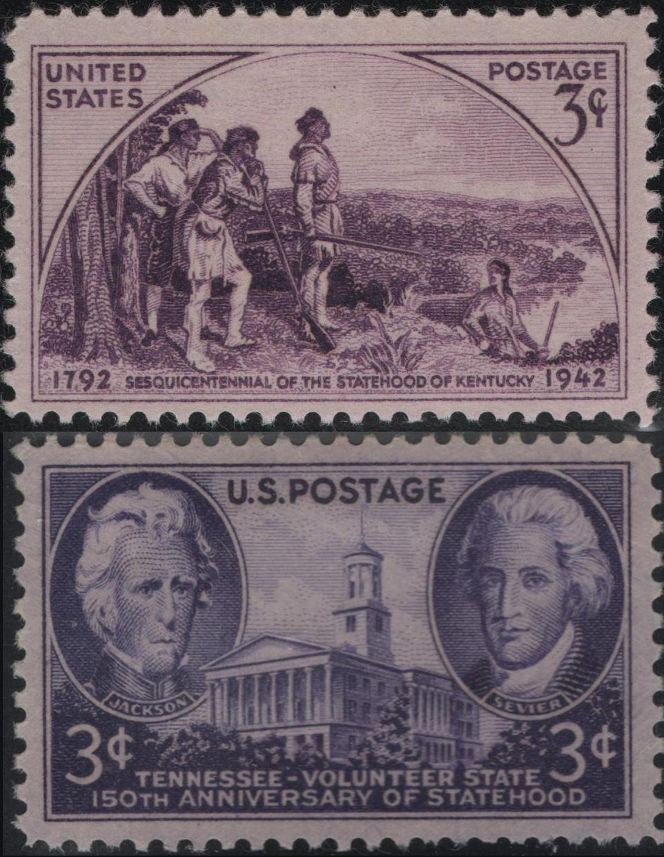 United States - Scott #904 (1942) and Scott #941 (1946)