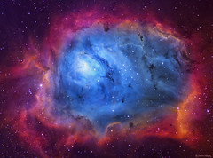 The Lagoon Nebula (M8) imaged in SHO