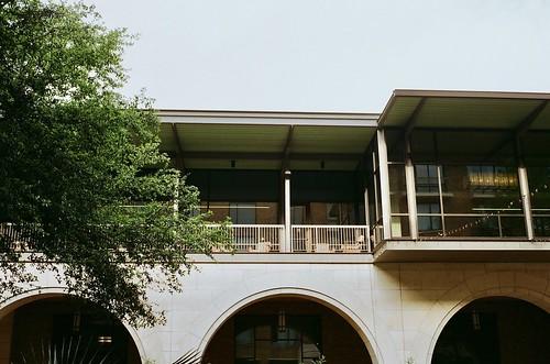 A balcony in springtime.