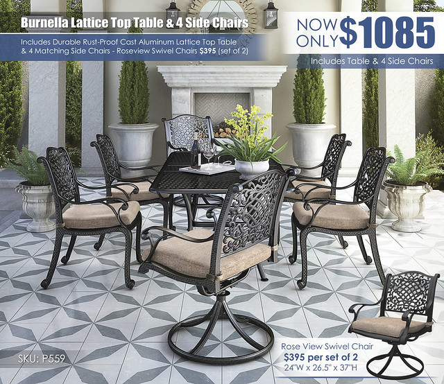 Burnella Lattice Top Table Set_P559-601A(4)-602A(2)-P456-645