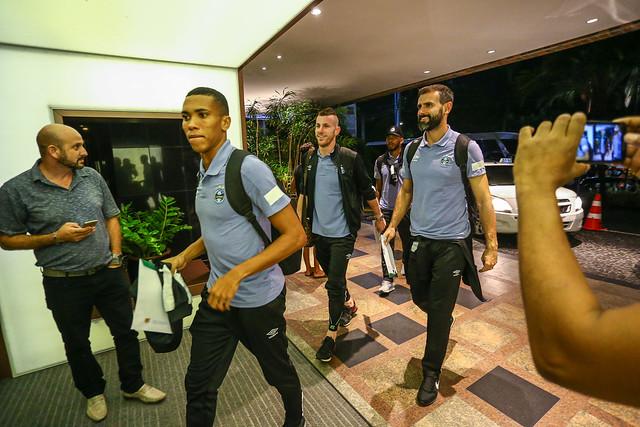 Chegada Grêmio em Fortaleza 25/05/18