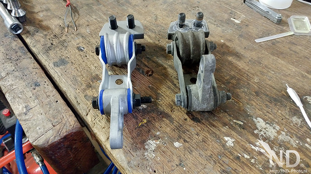 Volvo S80 2.4T New vs Old Gearbox mount