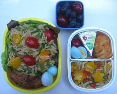 Orzo salad: father and son lunches