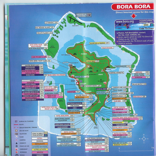 Bora Bora Map Flickr Photo Sharing