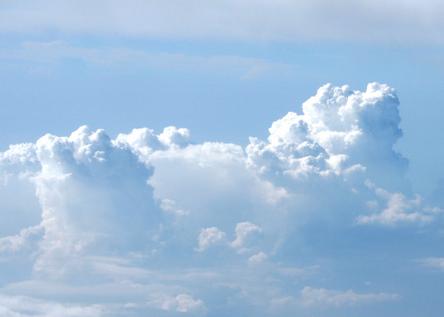 towering thunder clouds