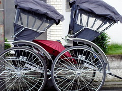 rickshaw, wheel, vehicle, land vehicle, carriage, cart,
