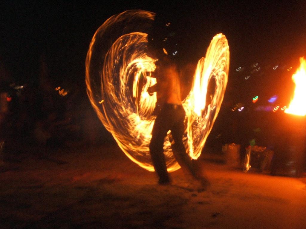 Fire Twirler @ Koh Pha Ngan, Thailand