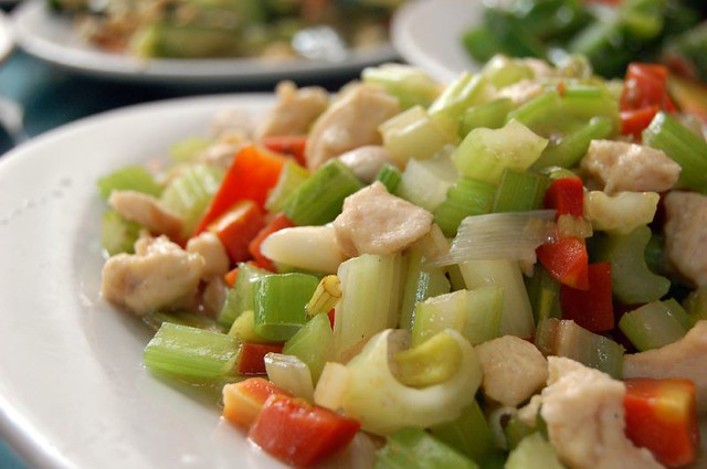 Chicken & celery stir-fry | Flickr - Photo Sharing!