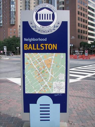 Wayfinding Sign, Ballston, Arlington County, Virginia