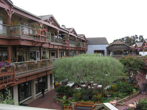 Carmel Plaza's central courtyard