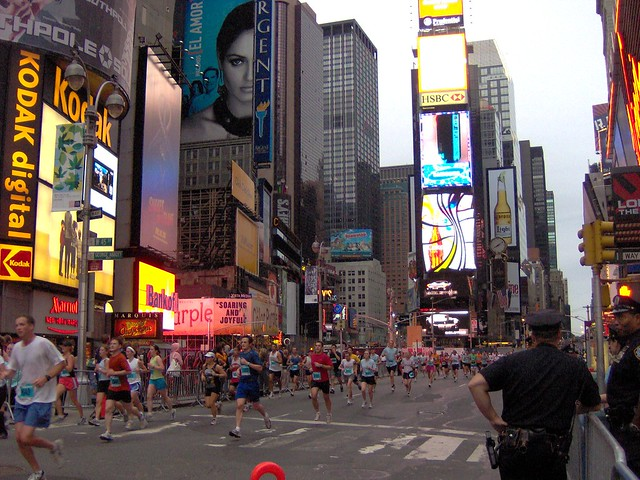 nyc half marathon in times square