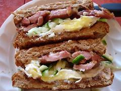 Home made turkey sandwich