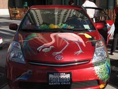 automobile, automotive exterior, toyota, vehicle, subcompact car, compact car, bumper,