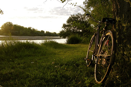 morning vacation bike sunrise river early nebraska north bank moms schwinn riverbank platte northplatte northplatteriver