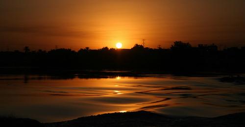 sunset orange sun water river iran wave persia karoon watersurface khuzestan rezamohseni khuzestanprovince karoonriver