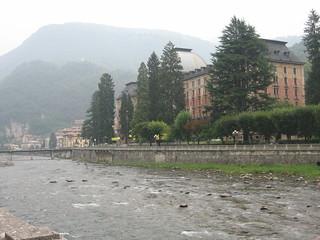Imagine de Grand Hotel. italy river sanpellegrino holidaylombardyalps