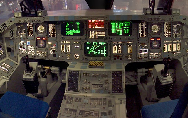 space shuttle reentry cockpit view - photo #22