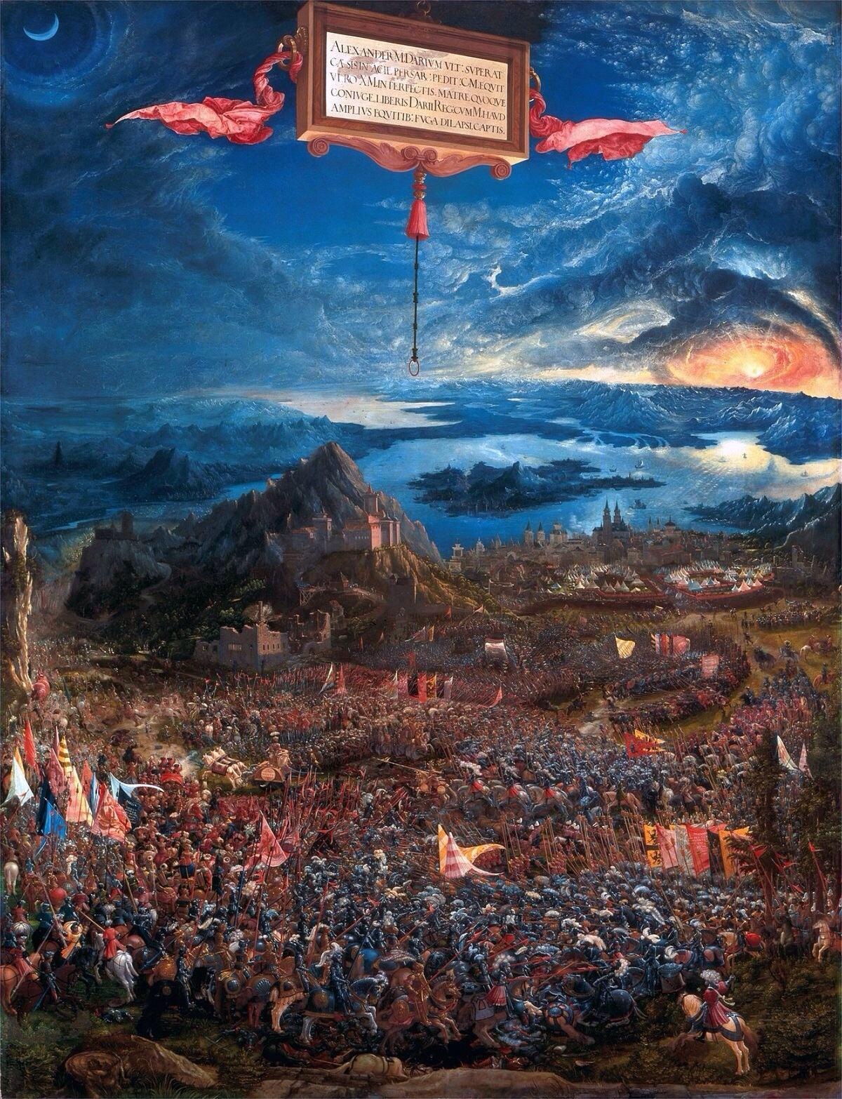 The Battle of Alexander at Issus by Albrecht Altdorfer, 1529