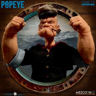 引起吃菠菜旋風的純情大力水手!! MEZCO ONE:12 COLLECTIVE 系列【卜派】Popeye 1/12 比例人偶作品