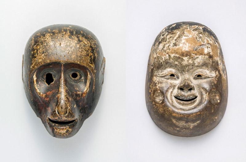 左)《猿》(室町時代、京都・壬生寺、~4月8日展示) 右)《乙》(安土桃山時代、岐阜・[関市]春日神社、5月8日~展示)