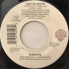 KARYN WHITE:ROMANTIC(LABEL SIDE-B)
