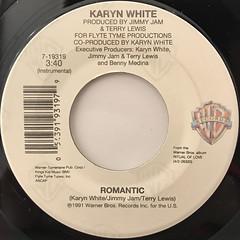 KARYN WHITE:ROMANTIC(LABEL SIDE-B)