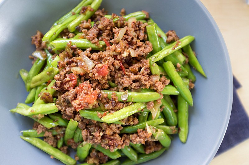 Ginisang Baguio Beans with Pork Giniling Recipe