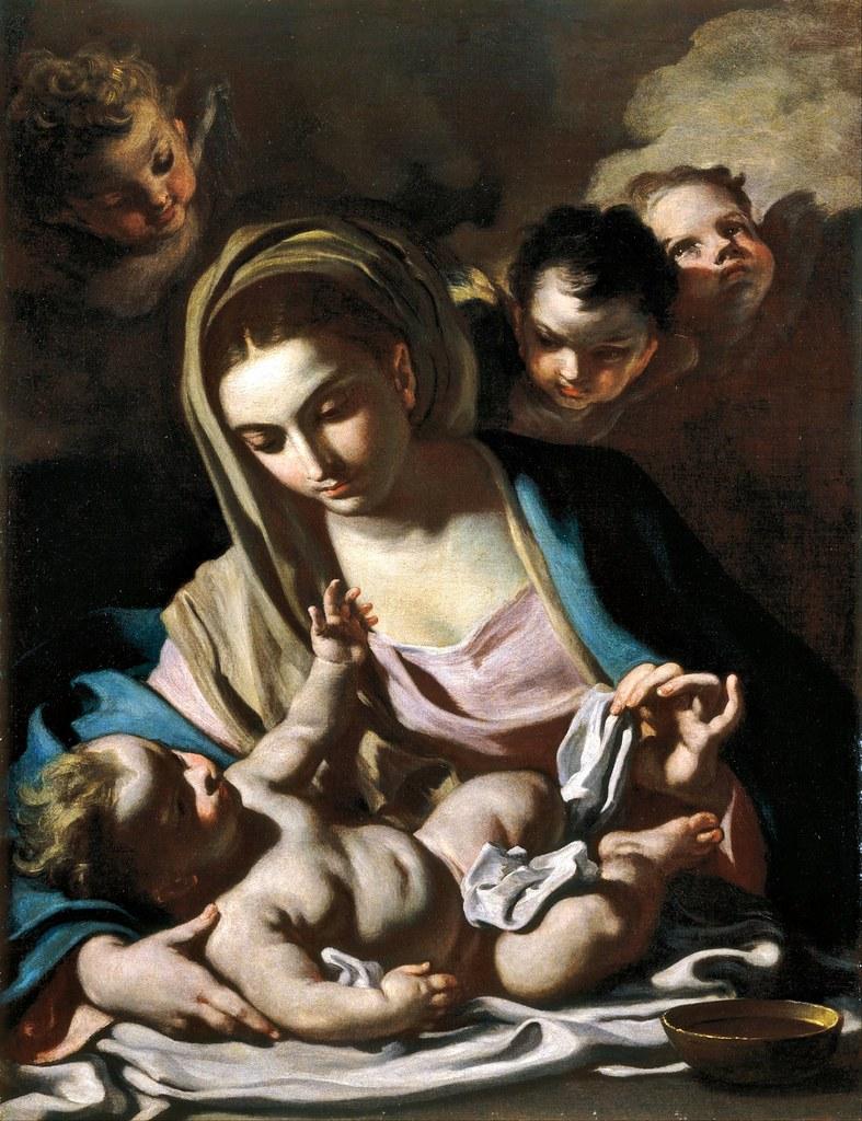 Francesco Solimena - Madonna and Child (c.1720)