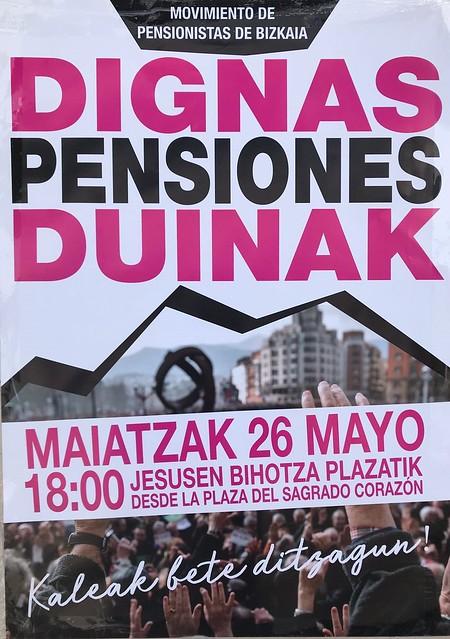 PensionesDignas YoVoy26M Bilbao