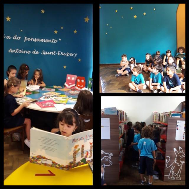 Aulas na Biblioteca - 1º ano EFI - 2018