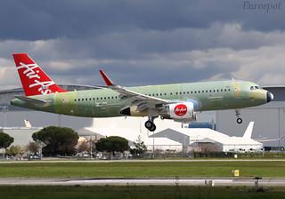 F-WWIU Airbus A320 Air Asia