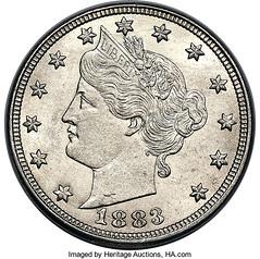1883 No Cents Nickel obverse