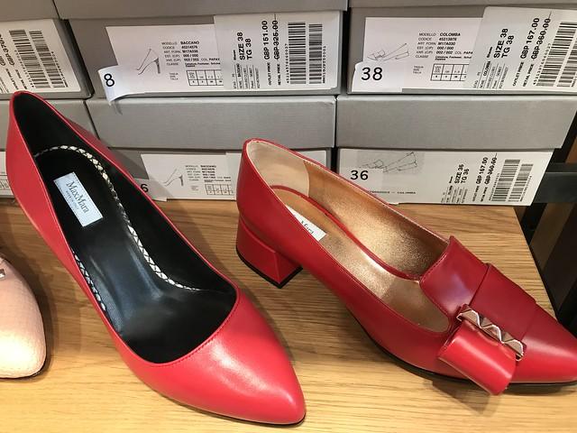 Max Mara, red pump shoes