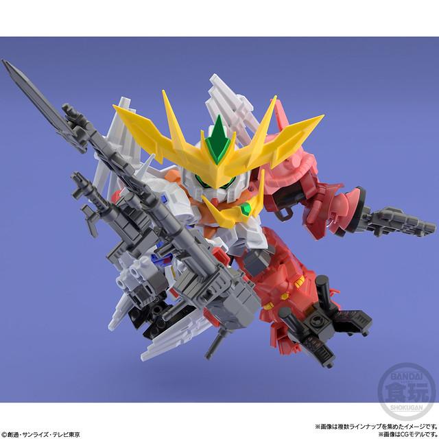 【Pickup】超震驚的SD鋼彈五機合體!MINIPLA《鋼彈創鬥者 潛網大戰》超級震撼鋼彈(スーパーショックガンダム)