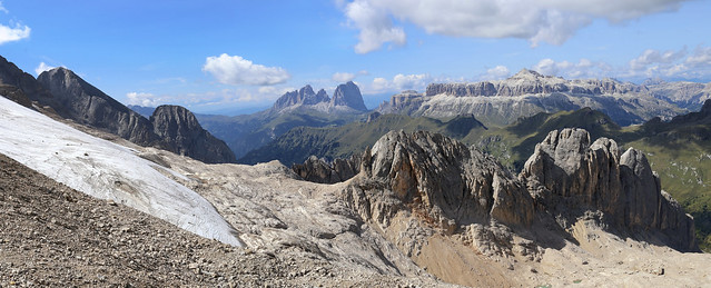 At the end of Glacier Marmolada in Italy